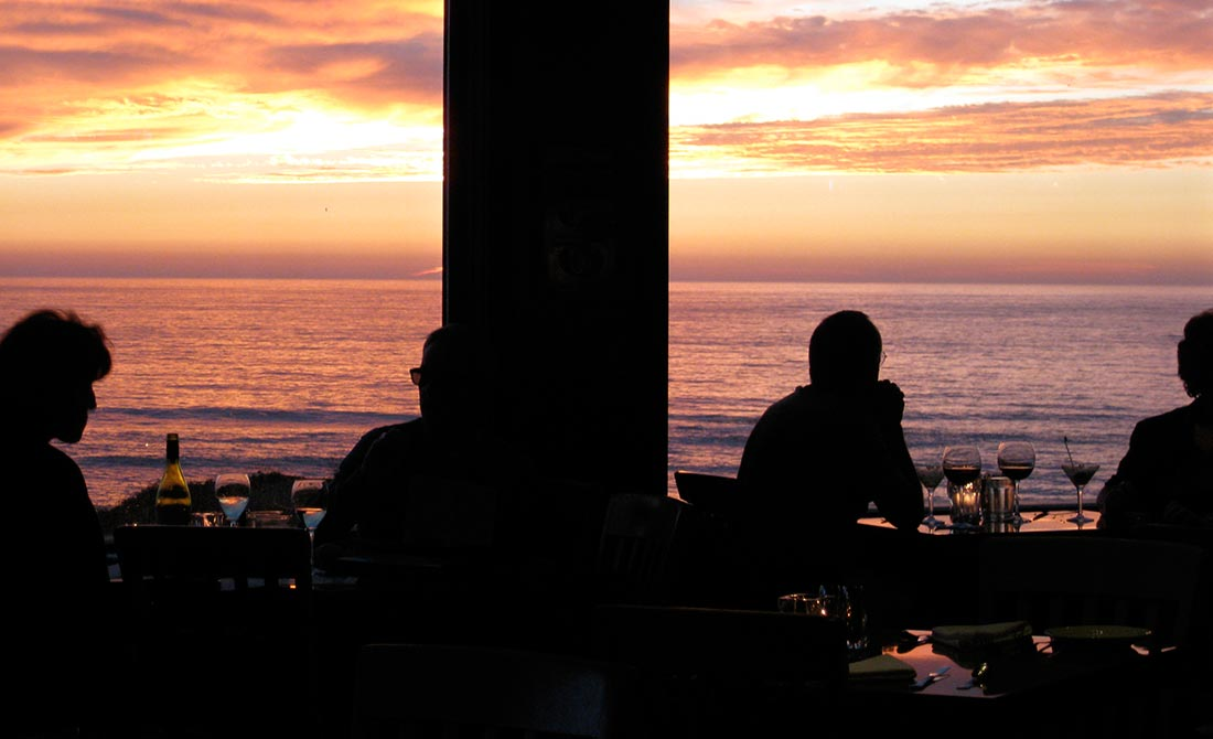 Sunset Ocean View From Restaurant Dining Room