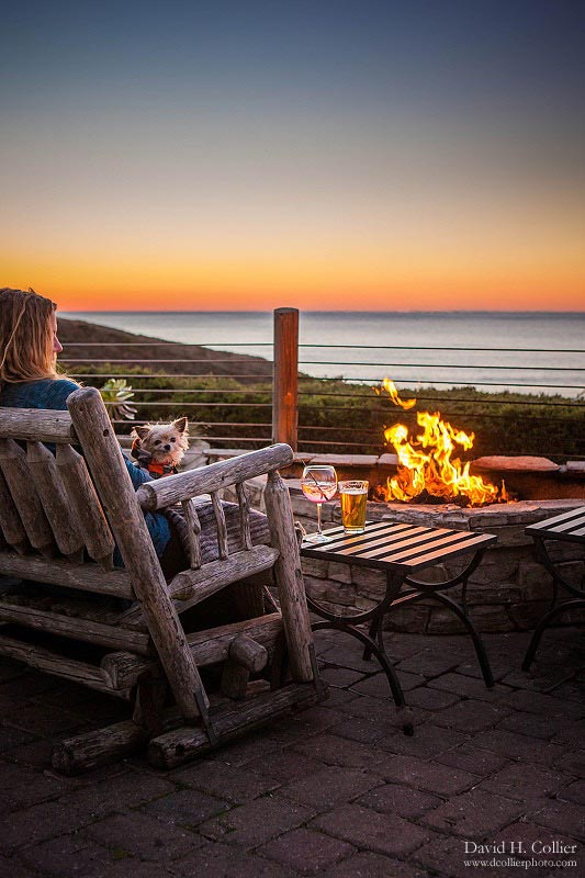 Ocean View Dog Friendly Restaurant Patio With Fire Pits