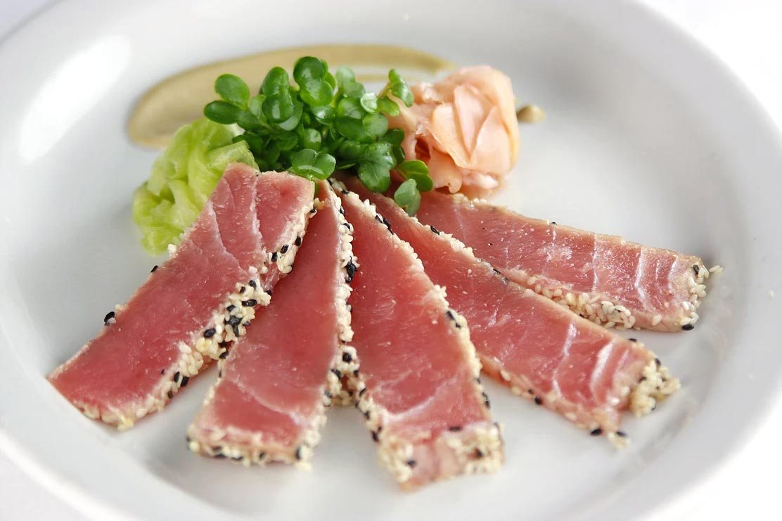Sesame Crusted Seared Yellowfin Tuna